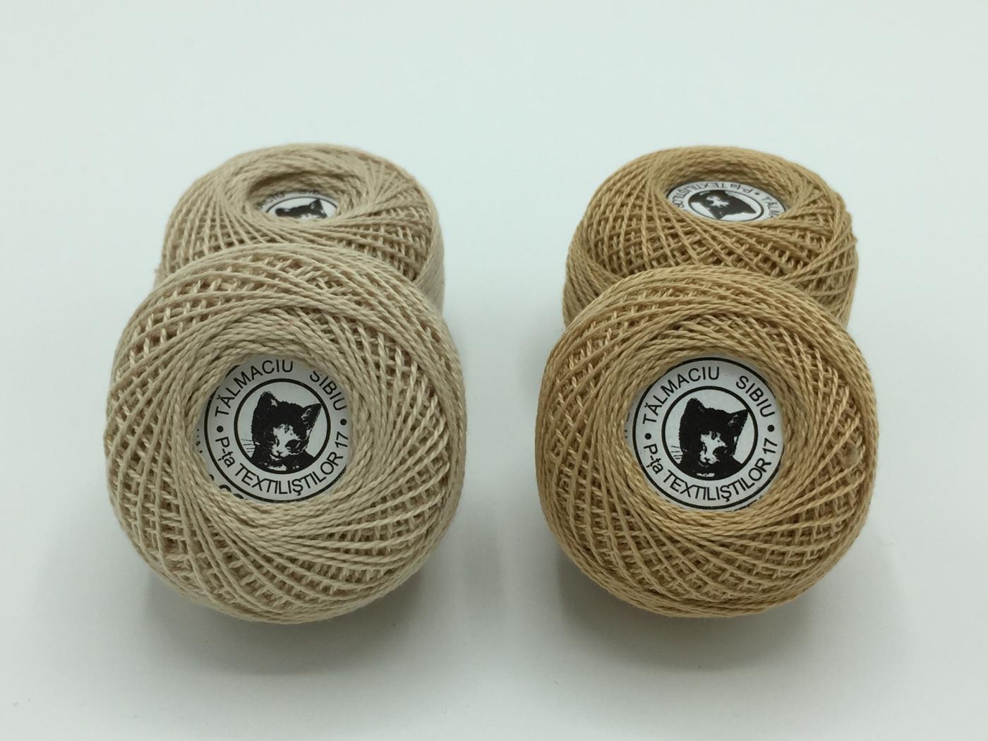 Ata cotton-perle 100% bumbac - Bej - 10 gheme - Romanofir 20/2