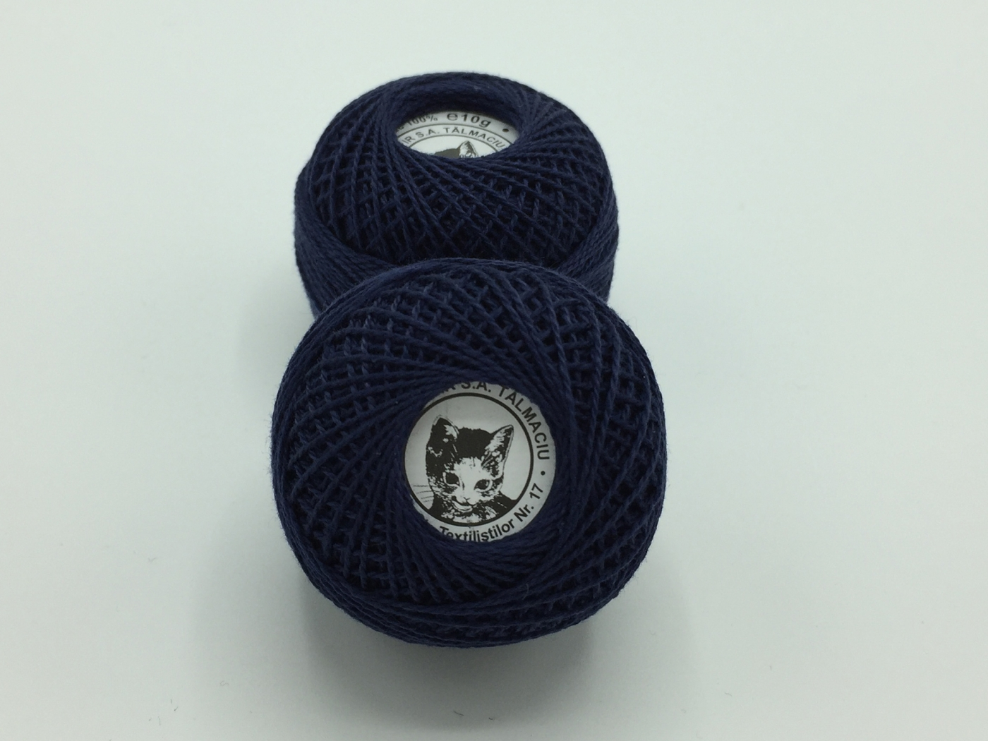 Ata cotton-perle 100% bumbac - Bleumarin - 10 gheme - Romanofir 20/2