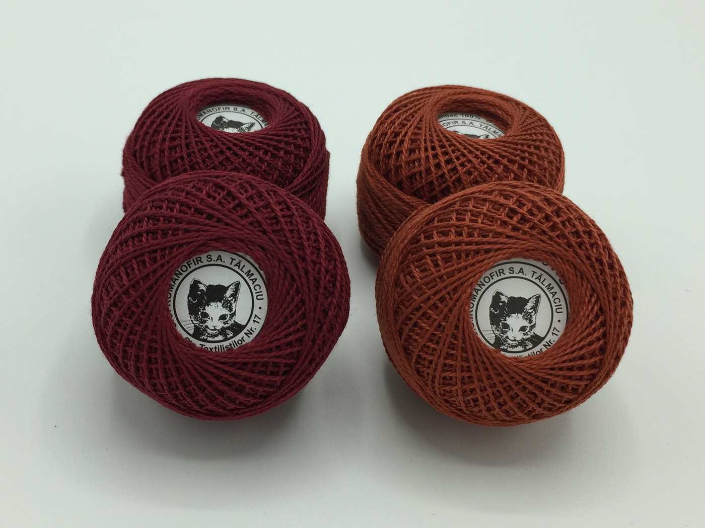 Ata cotton-perle 100% bumbac - Bordo - 10 gheme - Romanofir 20/2