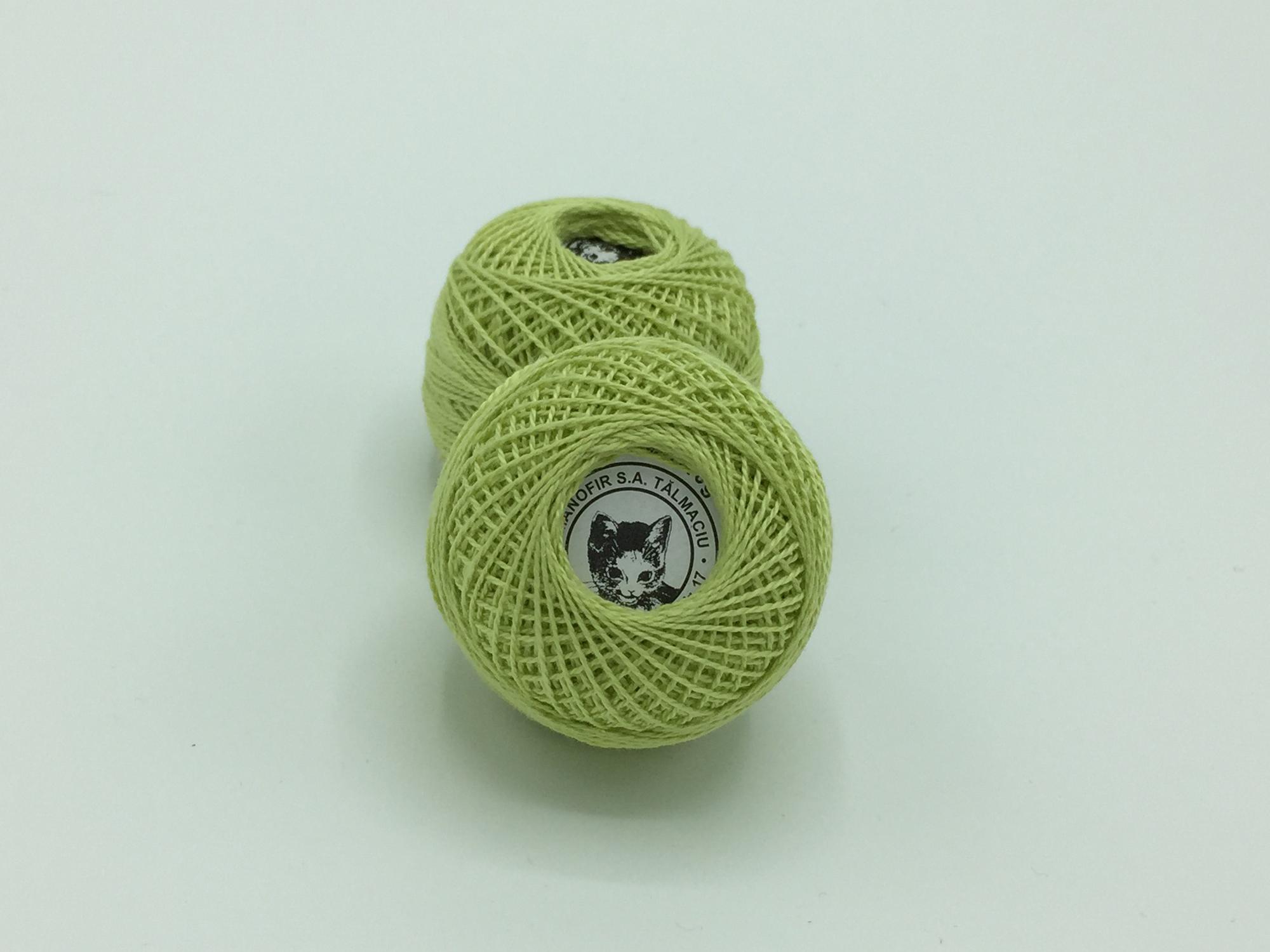 Ata cotton-perle 100% bumbac - Vernil - 10 gheme - Romanofir 20/2