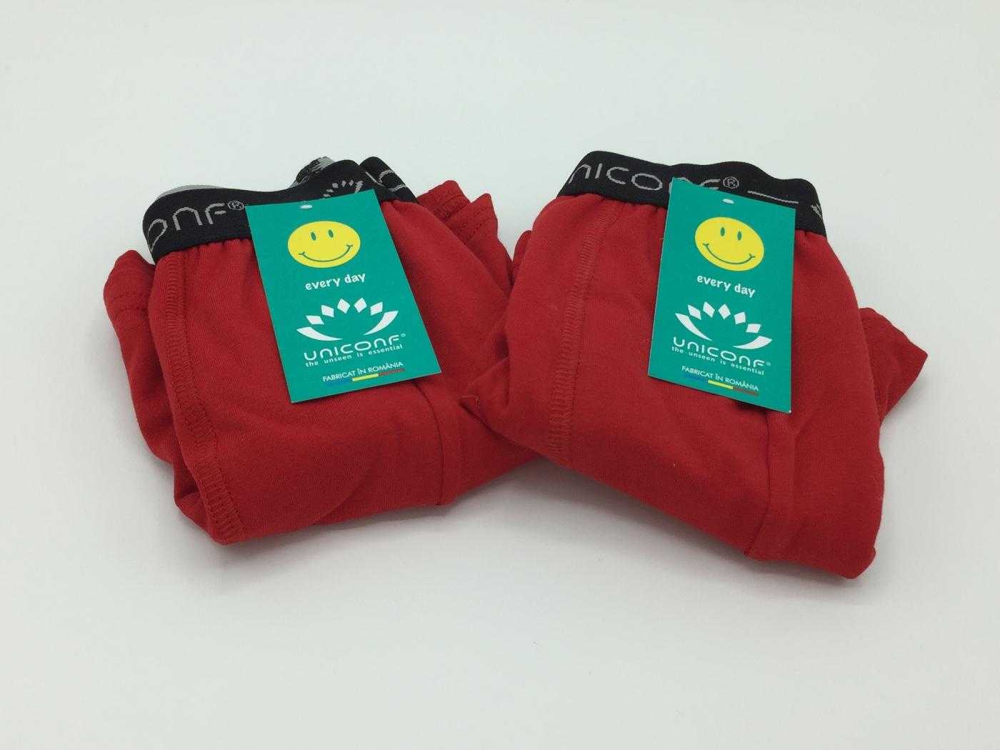 Boxeri barbati - Rosu - set 2 bucati - Uniconf BB08