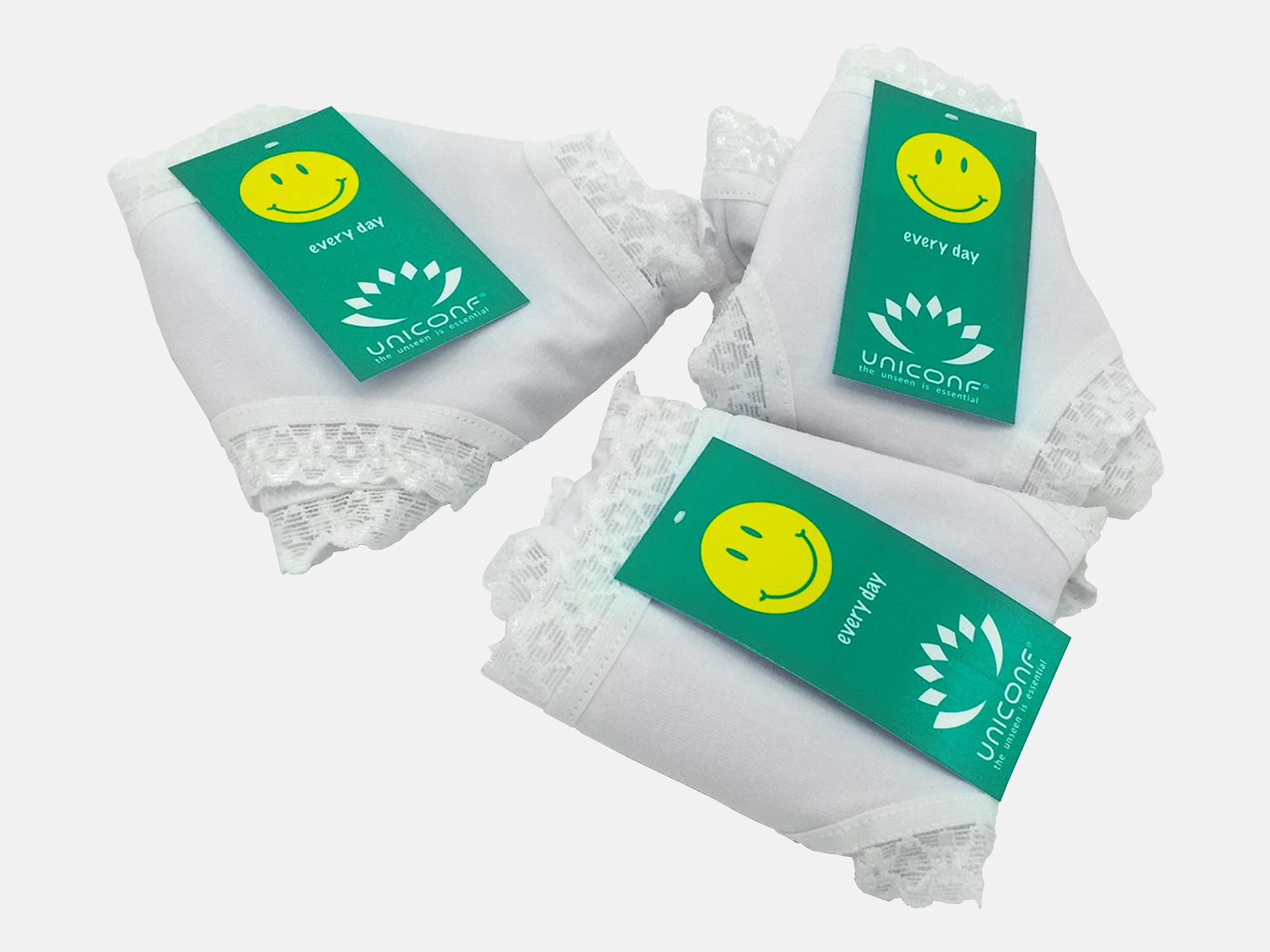 Chiloti dama - Alb - set 3 bucati - Uniconf TF 116