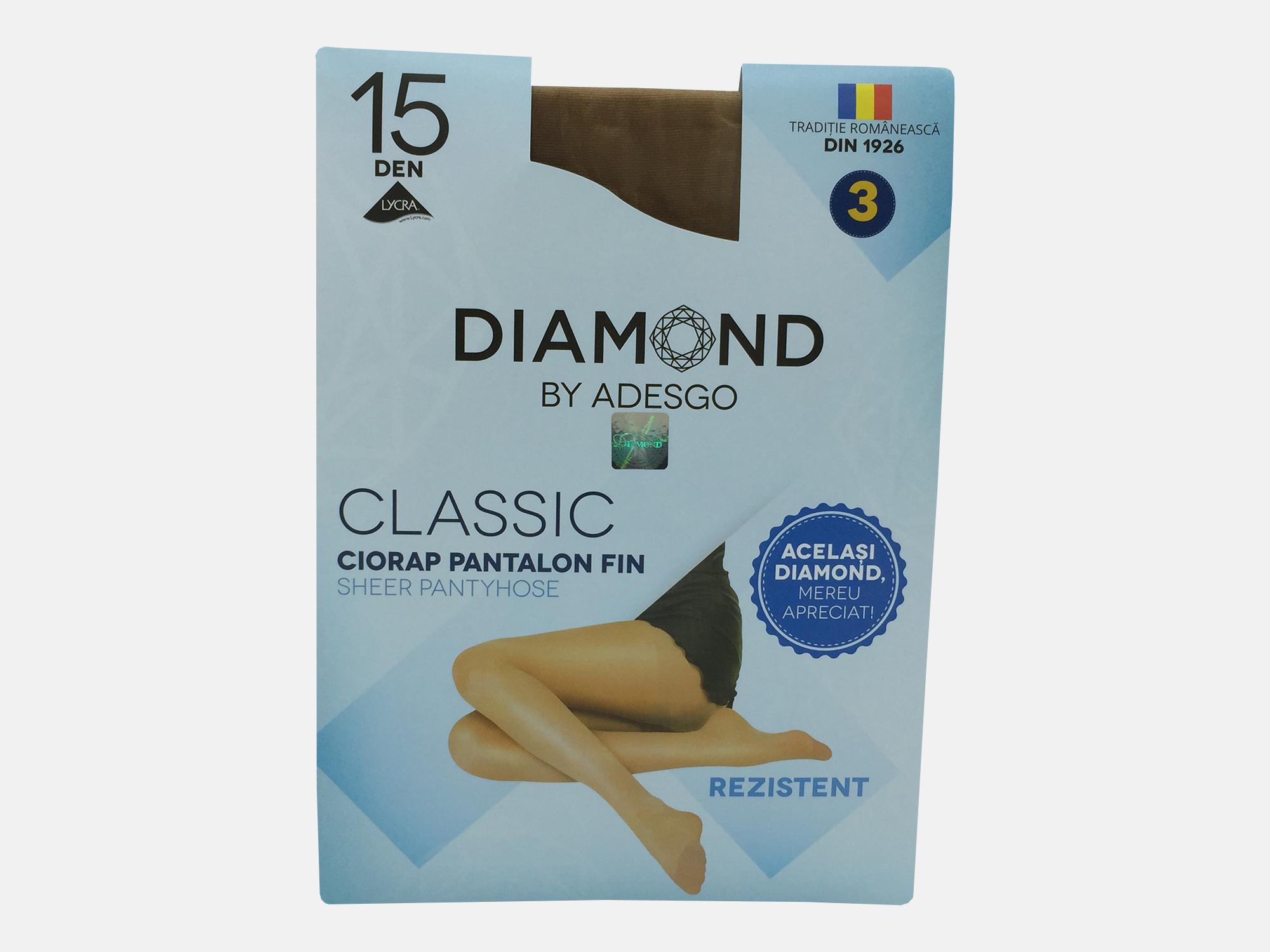 Dres femei lycra 15 Den - Bej - 3 set - Diamond Classic  Adesgo