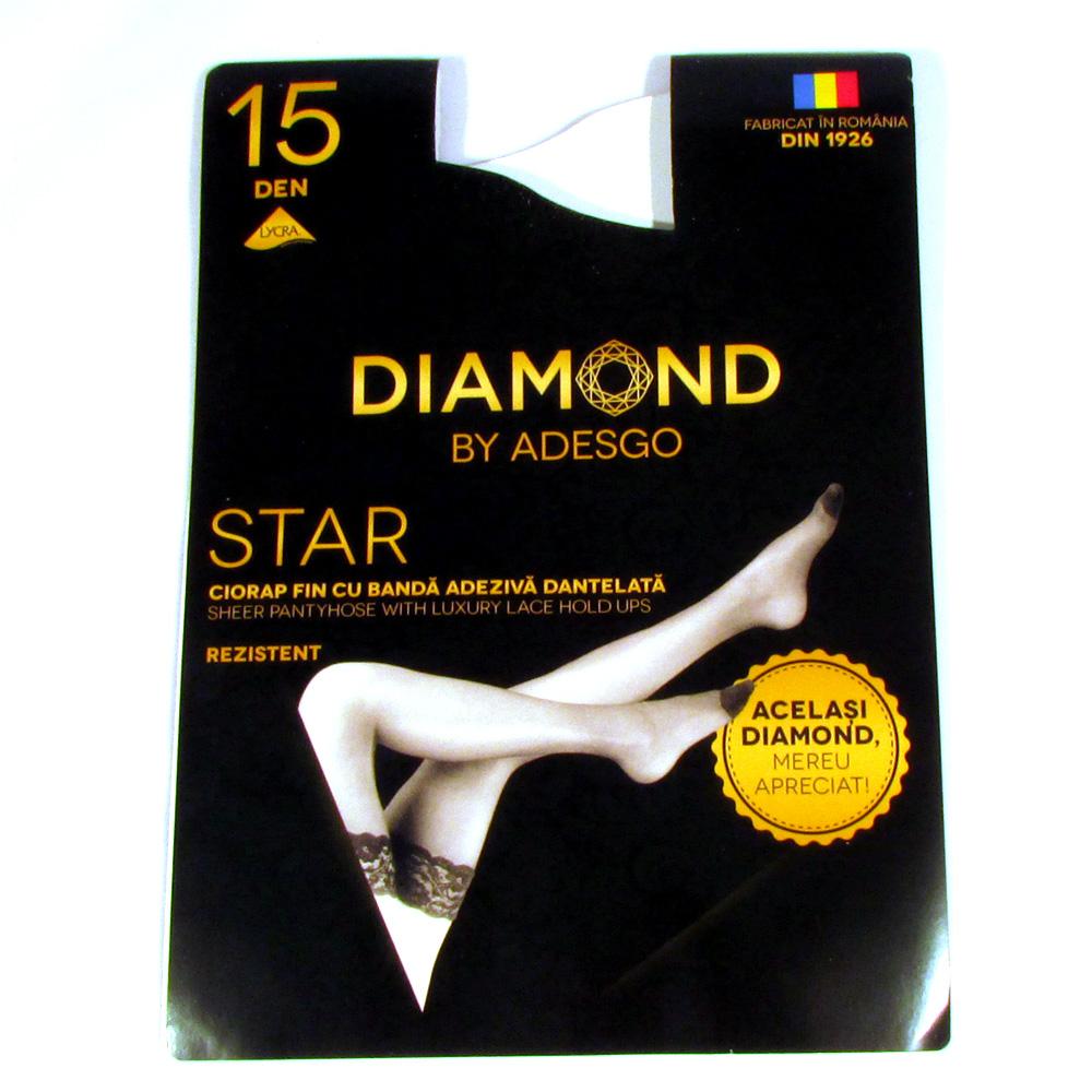 Dres femei lycra 15 Den - Alb - 3 set - Diamond Star  Adesgo