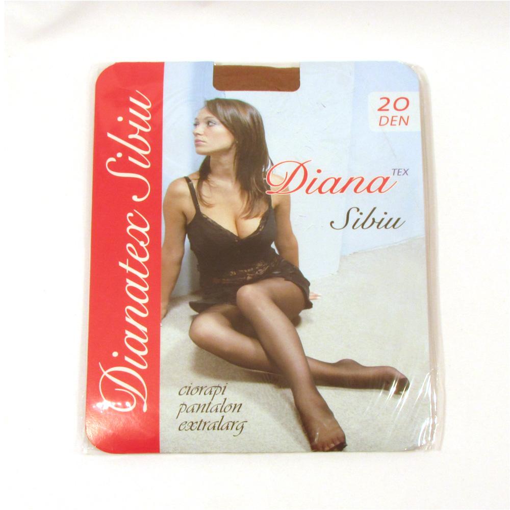 Dres femei poliamida 20 Den - Negru - 5 set - (5,6) - Diana-Tex