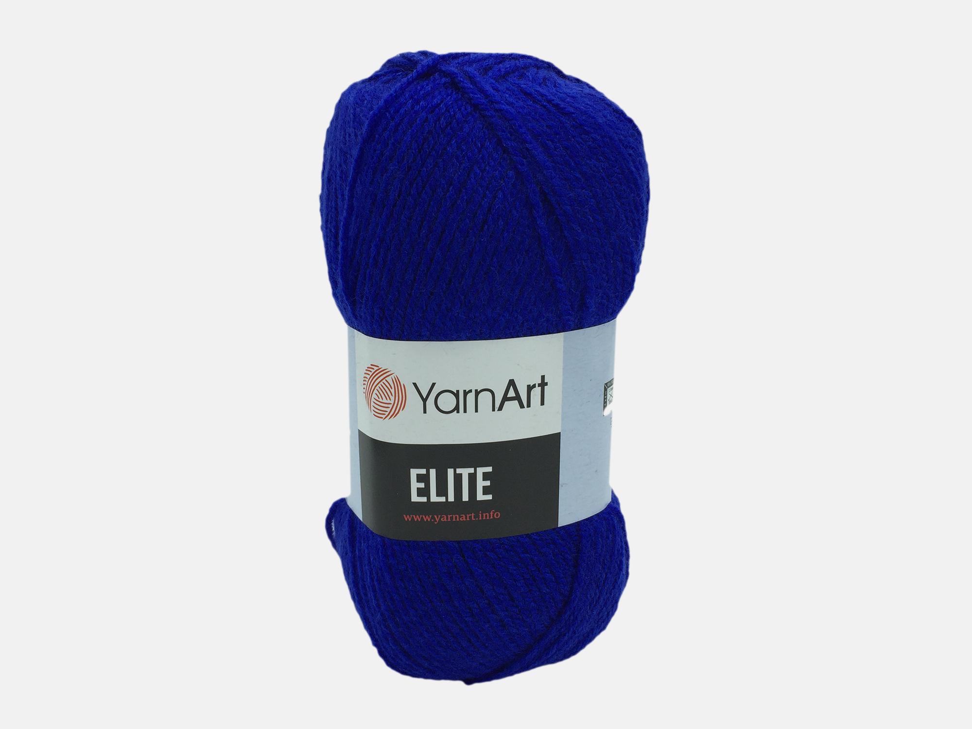 Fire tricotat - ELITE - Albastru - 64 - Yarn-Art