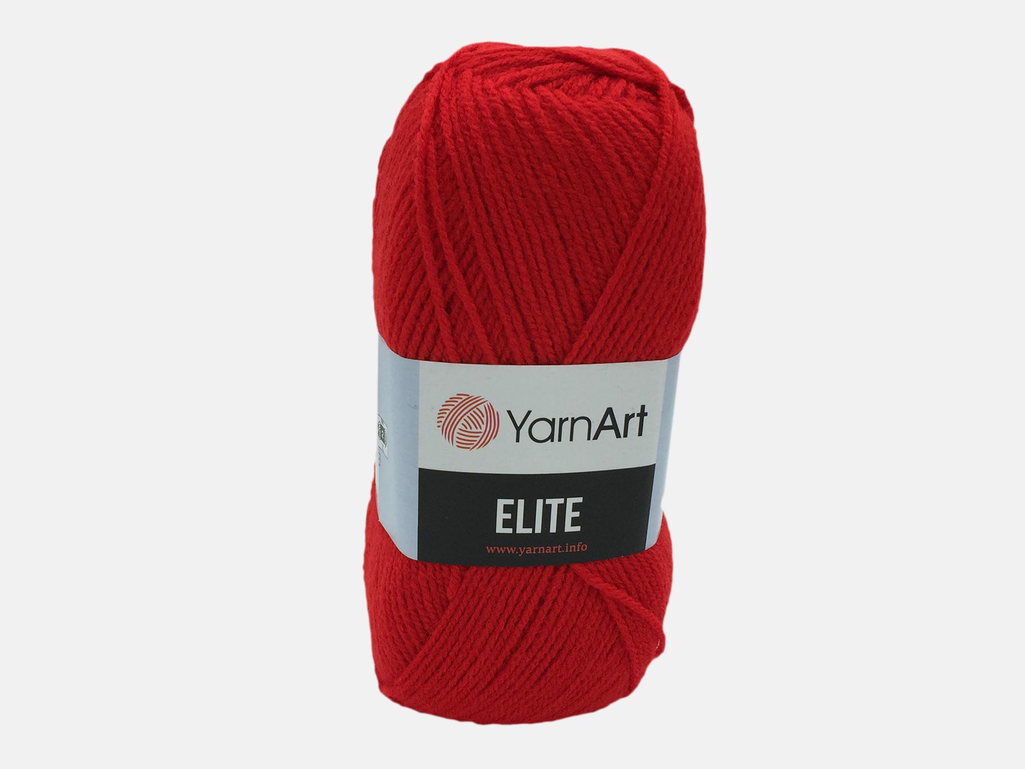 Fire tricotat - ELITE - Rosu - 41 - Yarn-Art
