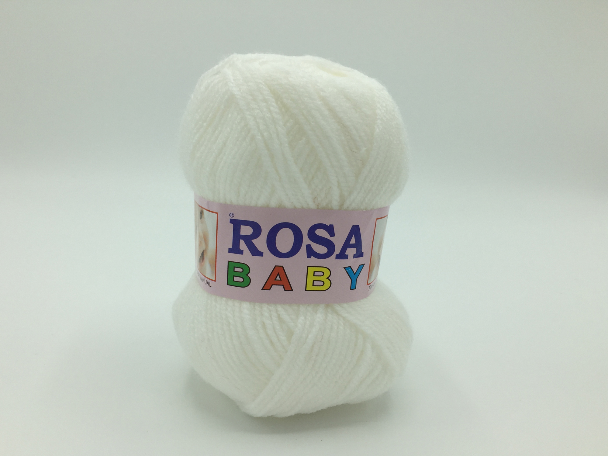 Fire tricotat Baby - Alb - Rosa