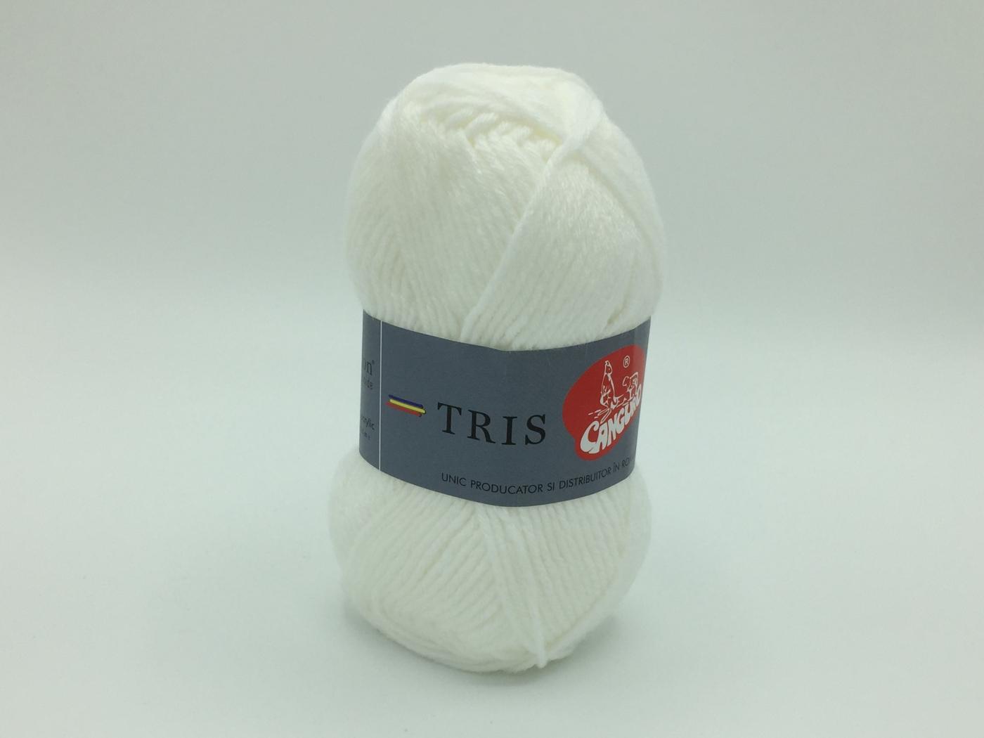 Fire tricotat Tris - Alb - Canguro