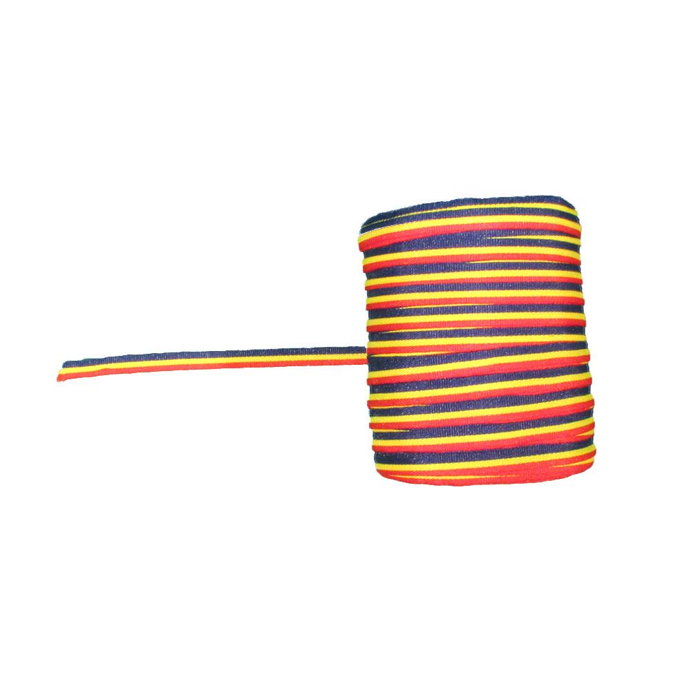Panglica tricolor - Tricolor - 100 ml -  HT Print Pasmanterie 5 mm