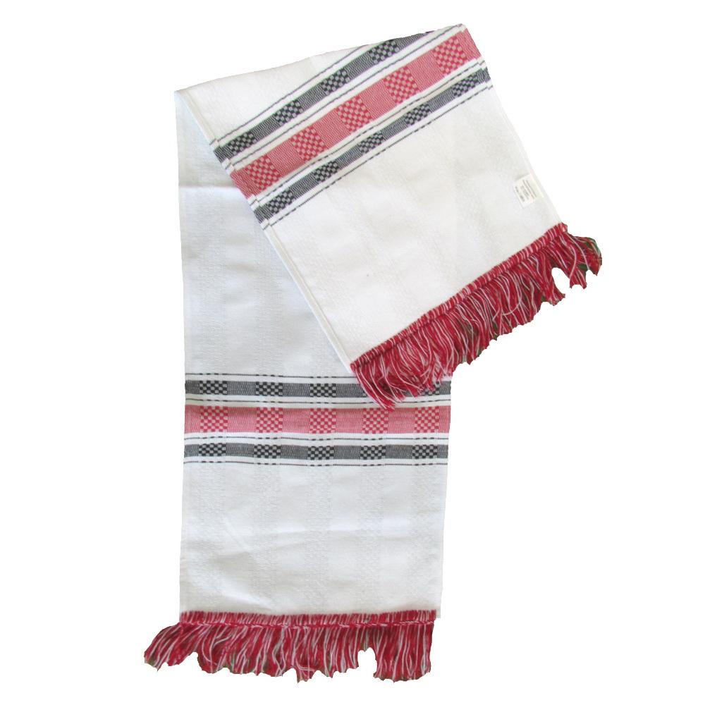Prosop artizanat - Alb-negru-rosu - set 3 bucati - Tesaturi Transilvanene