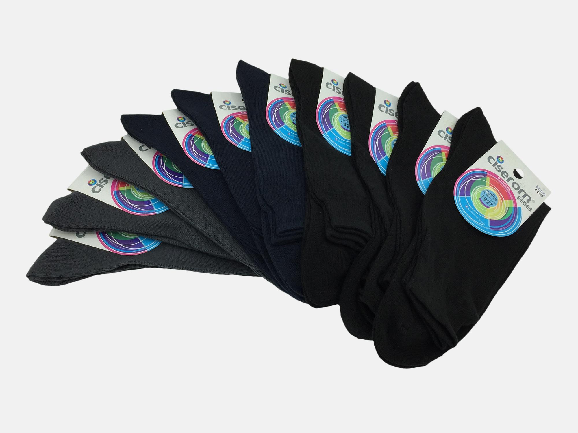 Sosete barbati 100% Bumbac - Multicolor - set 10 perechi - Ciserom 400