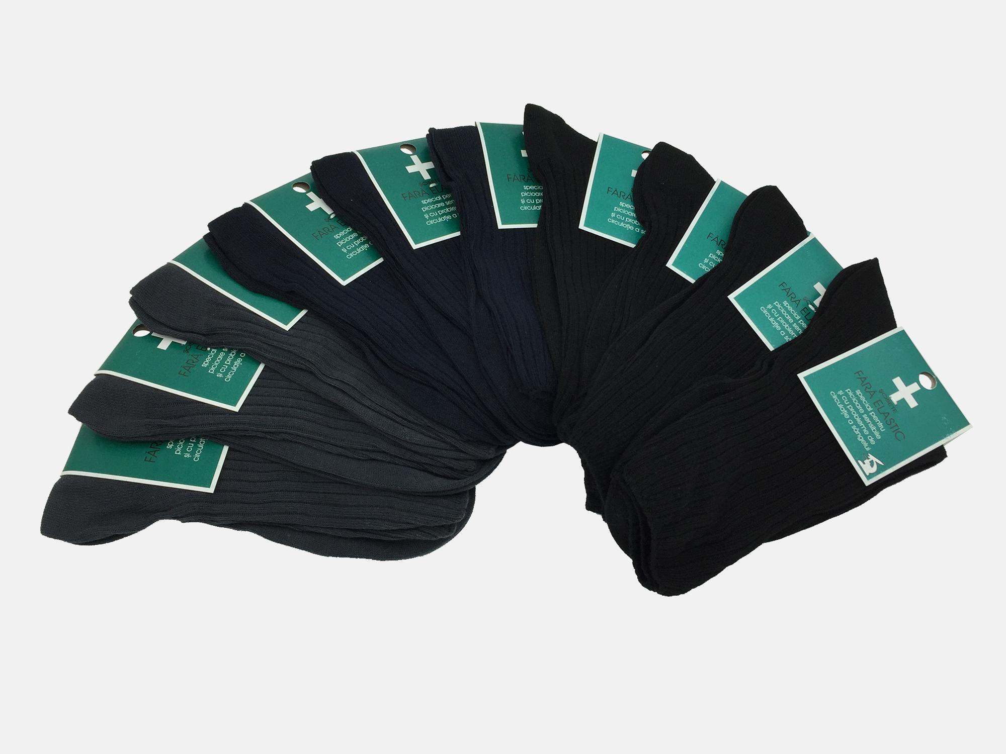 Sosete barbati medicinale 100% Bumbac - Multicolor - set 10 perechi - Ciserom 8456
