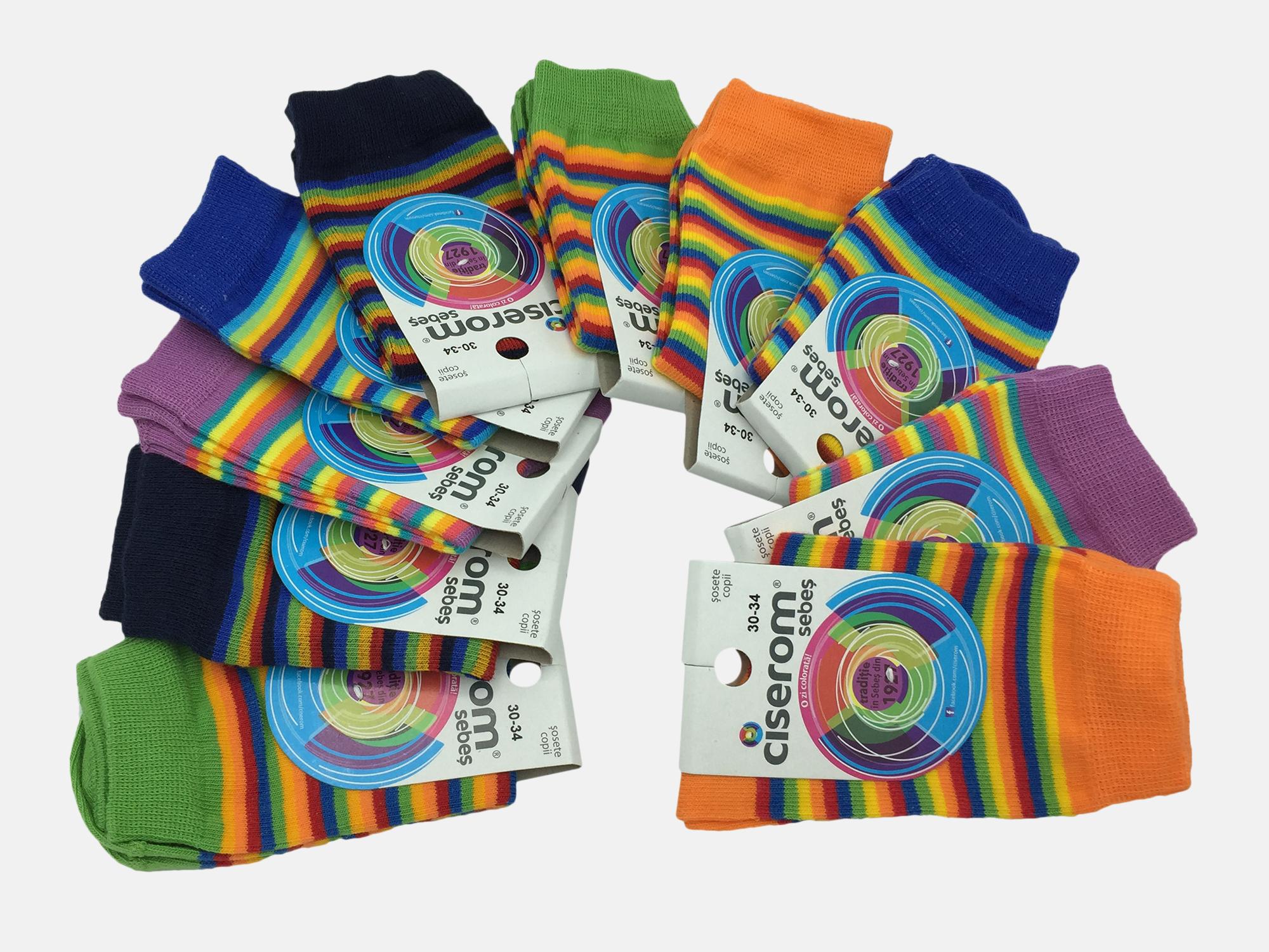 Sosete copii - Multicolor - set 10 perechi - Ciserom 326 18-20 model dungi