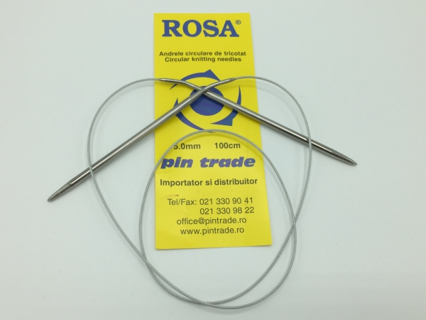 Andrele circulare fir metalic- set 3 bucati - Rosa