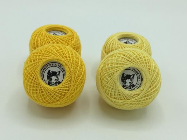Ata cotton-perle 100% bumbac - Galben - 10 gheme - Romanofir 20/2