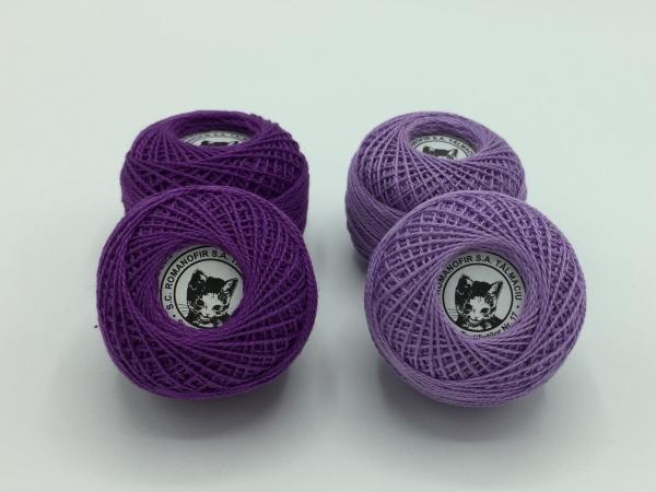 Ata cotton-perle 100% bumbac - Mov - 10 gheme - Romanofir 20/2