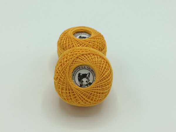 Ata cotton-perle 100% bumbac - Portocaliu - 10 gheme - Romanofir 20/2