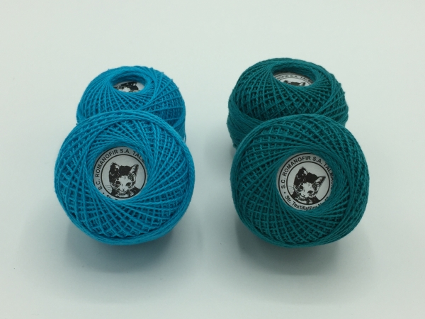 Ata cotton-perle 100% bumbac - Turcuaz - 10 gheme - Romanofir 20/2