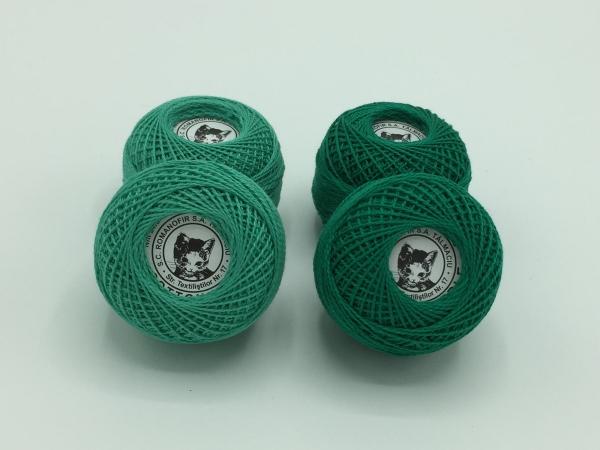 Ata cotton-perle 100% bumbac - Verde - 10 gheme - Romanofir 20/2