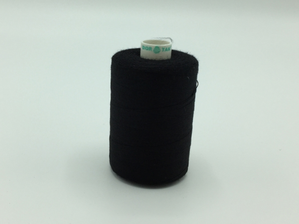 Ata cusut 100% poliamida - Negru - 10 batire 40/2