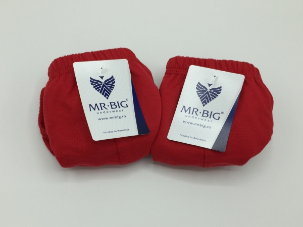 Chiloti barbati  100% Bumbac - Rosu - set 2 buc - Mr Big 101