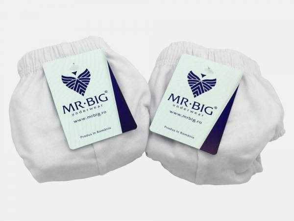 Chiloti barbati  100% Bumbac - Alb - set 2 buc - Mr Big 101