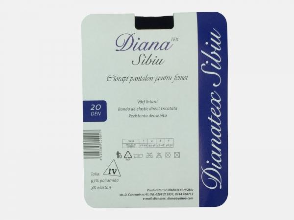 Dres femei poliamida 20 Den - Negru - 5 set - (2,3,4) - Diana-Tex
