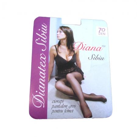 Dres femei poliamida 70 Den - Negru - 5 set - Diana-Tex