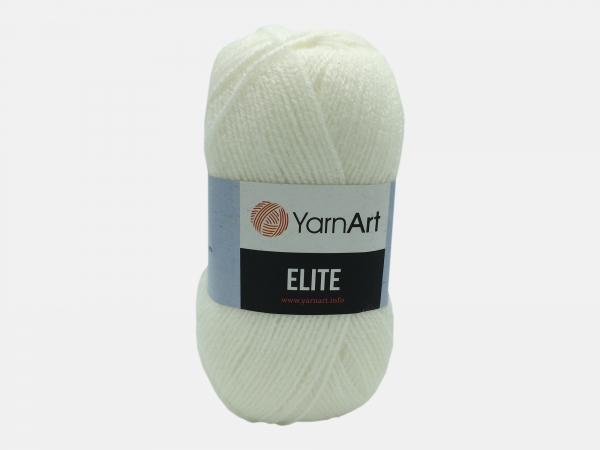 Fire tricotat - ELITE - Alb - 150 - Yarn-Art