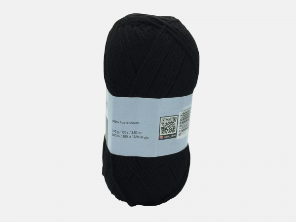 Fire tricotat - ELITE - Negru - Yarn-Art
