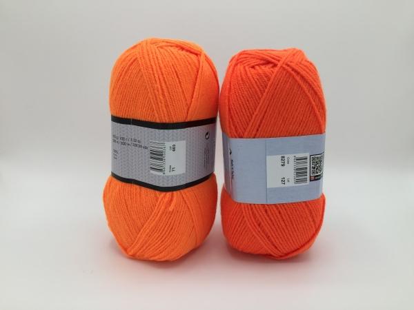 Fire tricotat - ELITE - Portocaliu-florescent - 8279-71 - Yarn-Art