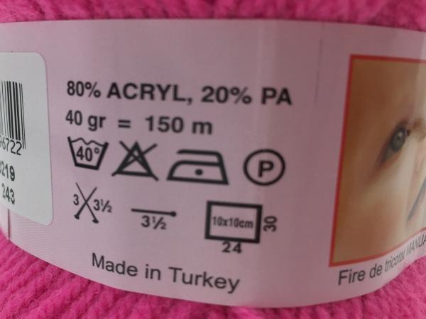 Fire tricotat Baby - Vernil - Rosa