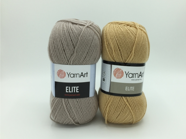 Fire tricotat - ELITE - Bej - 805 - 857- Yarn-Art