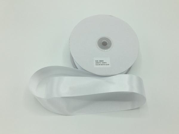Panglica saten - Alb - 50 ml