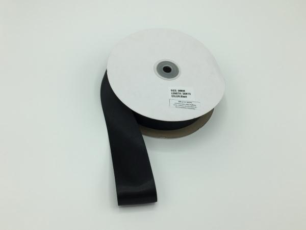 Panglica saten - Negru - 50 ml