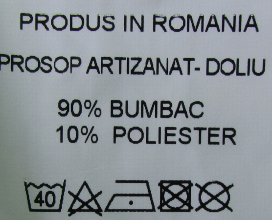 Prosop artizanat - Alb-negru - set 3 bucati - Tesaturi Transilvanene