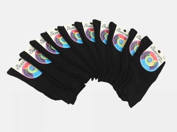 Sosete barbati - Negru - set 10 perechi - Ciserom 426