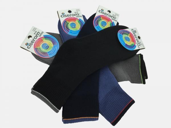 Sosete barbati frotir interior - Multicolor - set 10 perechi - Ciserom 484