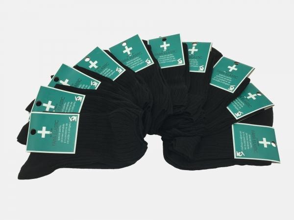 Sosete barbati medicinale 100% Bumbac - Negru - set 10 perechi - Ciserom 8456