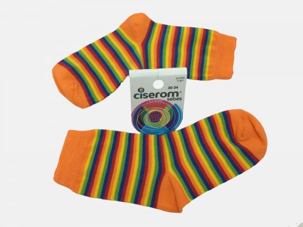 Sosete copii - Multicolor - set 5 perechi - Ciserom 326 18-20 model dungi