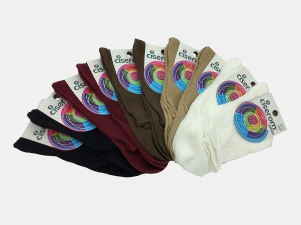 Sosete dama 100% Bumbac - Multicolor - set 10 perechi - Ciserom 200