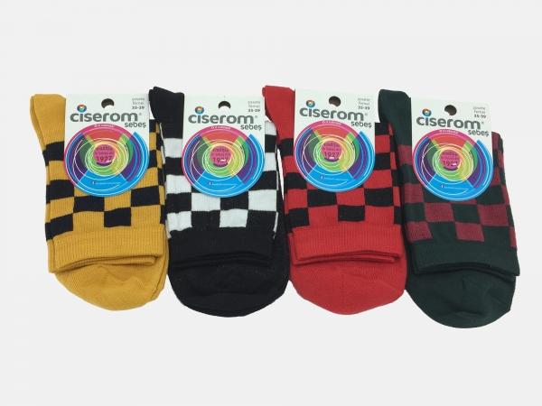 Sosete dama - Multicolor - set 10 perechi - Ciserom 221 model carou