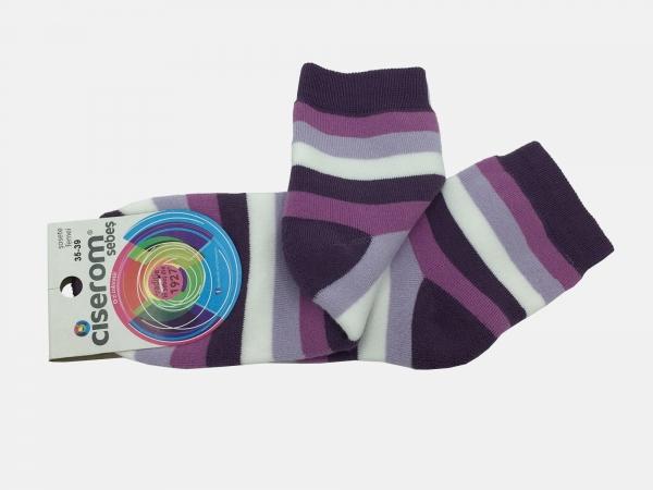 Sosete dama frotir interior - Multicolor - set 5 perechi - Ciserom 235 dungi inchise