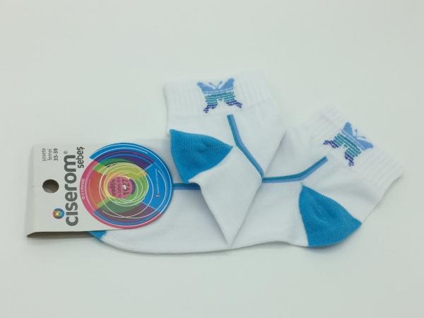 Sosete dama - Alb - set 10 perechi - Ciserom 243 fluturi