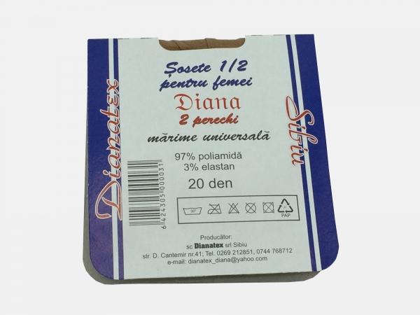 Dres femei poliamida 1/2 - Bej - Negru - 5 set - Diana-tex