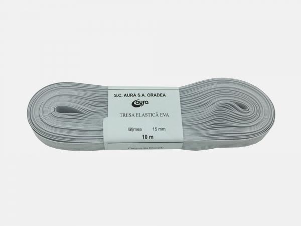 Tresa elastic - Alb - 10 ml - Aura 15 mm