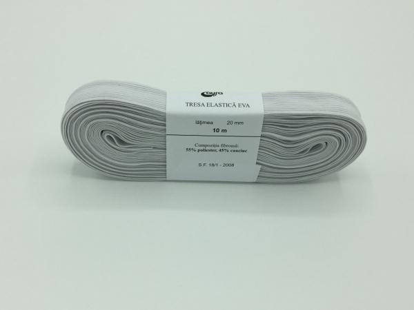 Tresa elastic - Alb - 10 ml - Aura 20 mm