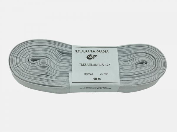Tresa elastic - Alb - 10 ml - Aura 25 mm
