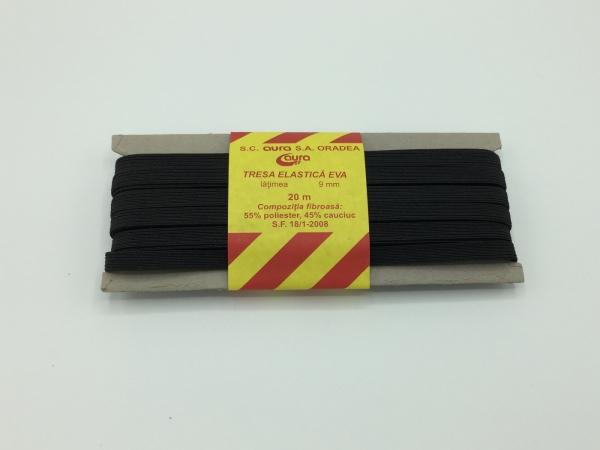 Tresa elastic - Negru - 20 ml - Aura 9 mm